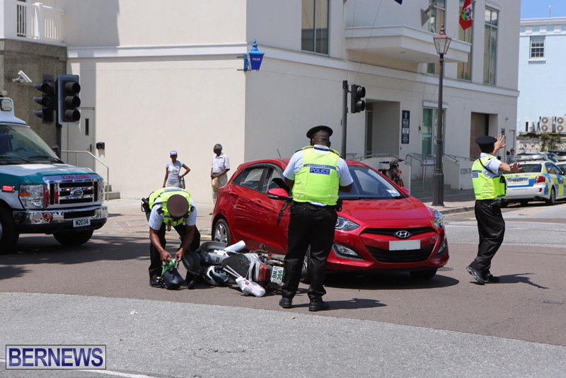 Collision Car motorcycle 1