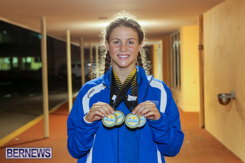 Swimmer Madelyn Maddy Moore At Airport Bermuda, June 28 2015