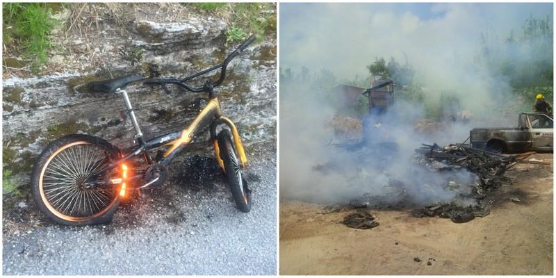 bike van fire