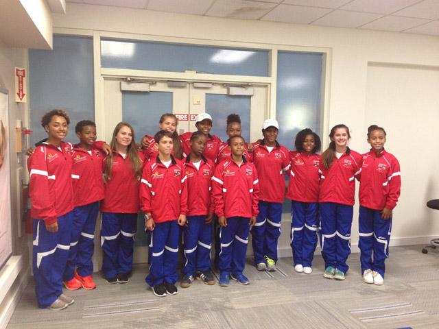 Bermuda gymnastics Team July 24 2015