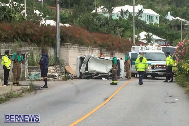 Overturned Car Accident Bermuda, July 12 2015 (1)