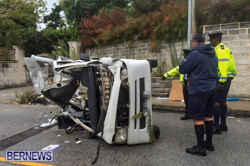 Overturned Car Accident Bermuda, July 12 2015 (3b)