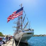 US Coast Guard Tall Ship Eagle In Bermuda, July 4 2015-43
