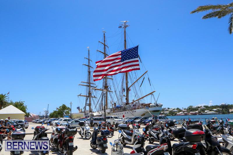 US-Coast-Guard-Tall-Ship-Eagle-In-Bermuda-July-4-2015-44