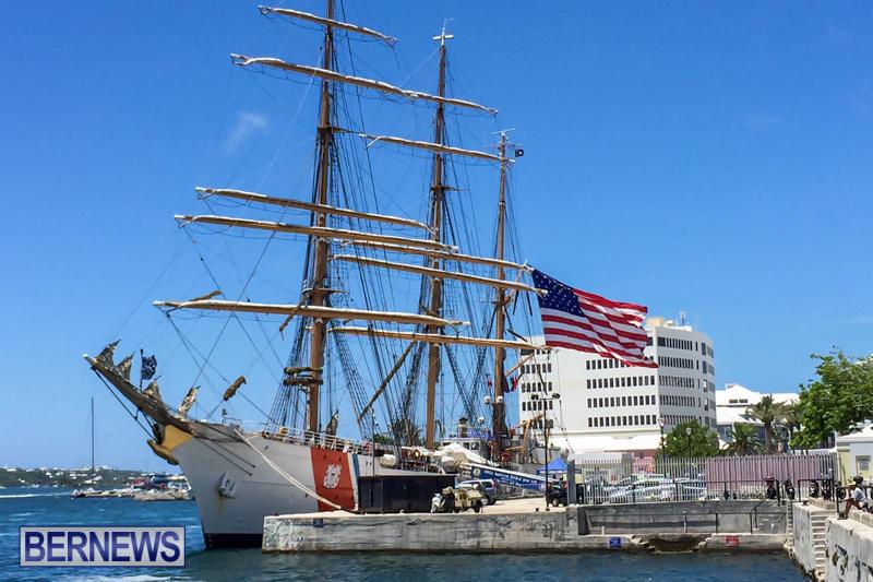 US-Coast-Guard-Tall-Ship-Eagle-In-Bermuda-July-4-2015-49