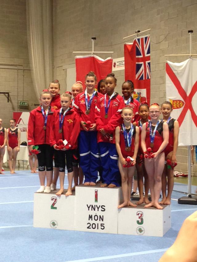 gymnastics Jr Girls gold July 24 2015