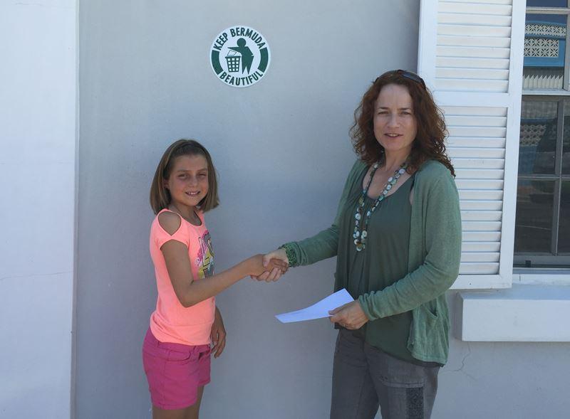 Rachael presents donation to KBB hi res