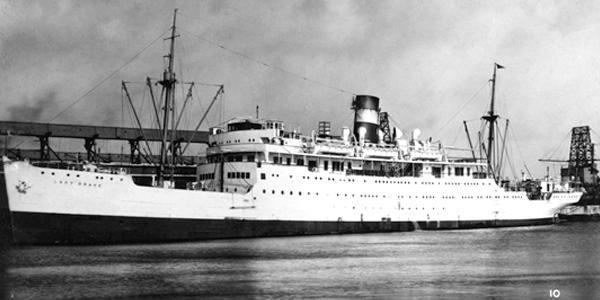The Canadian passenger cargo ship Lady Drake