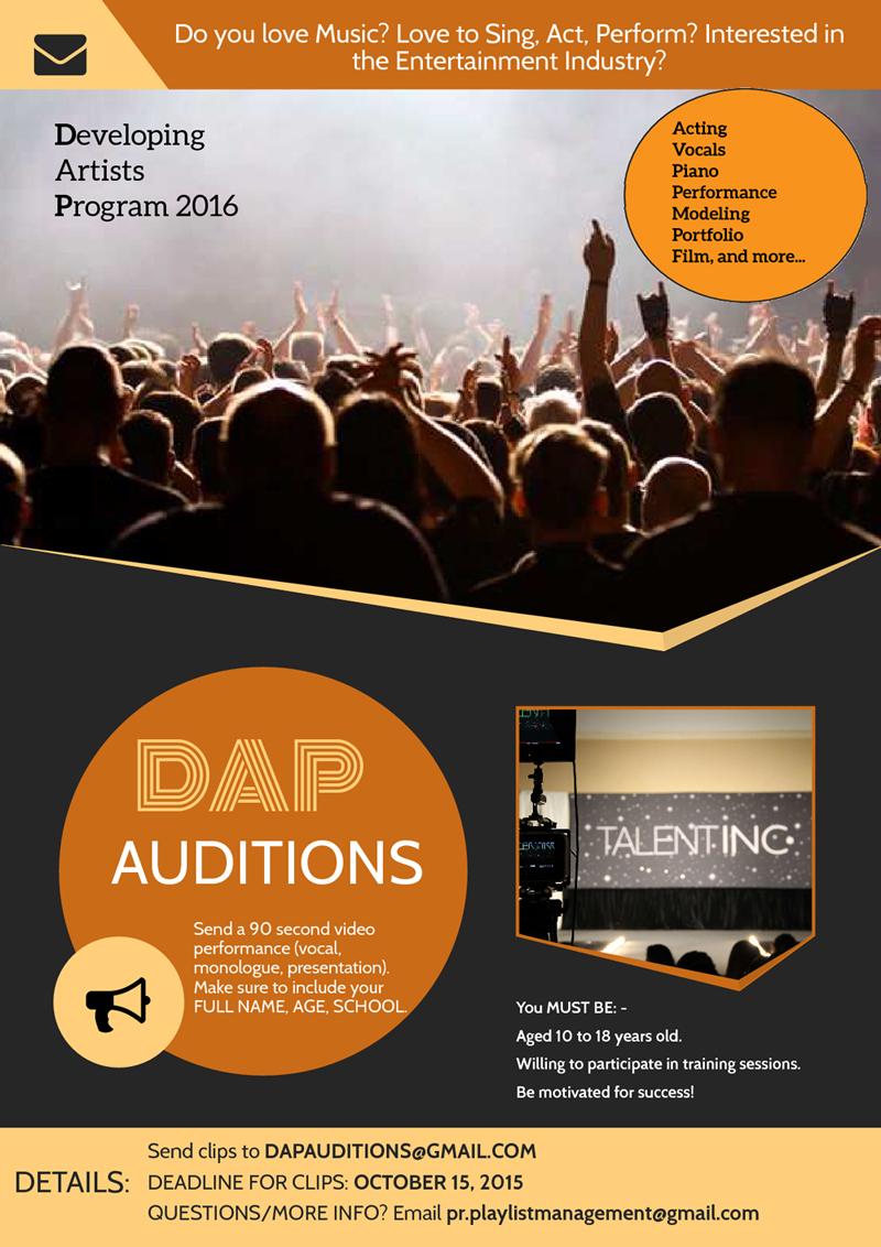 Audition Flyer 2016 UD
