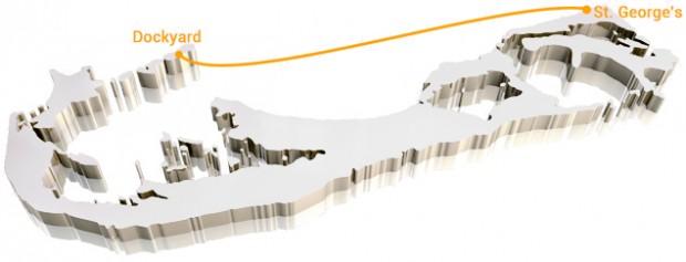 Bermuda-Ferry-Map-Orange-Route white bg