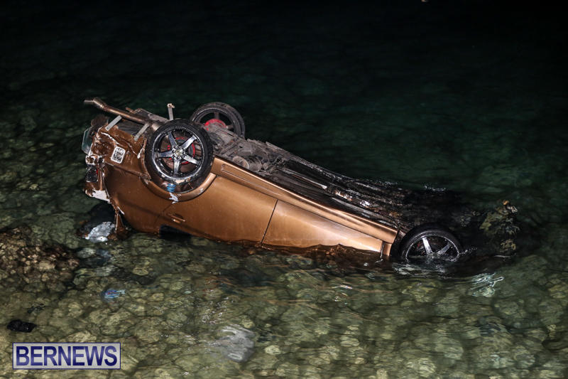 Car Overturned Overboard Bermuda, September 7 2015-2