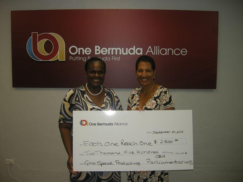 OBA Parliamentarians Donation - Each One Reach One - September, 2015