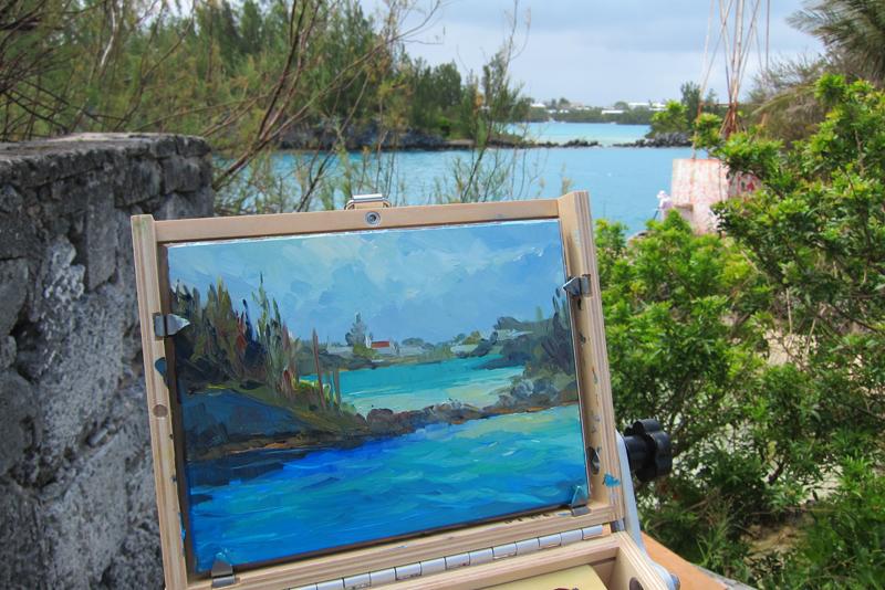 Plein Air exhibition Bermuda September 2015 1