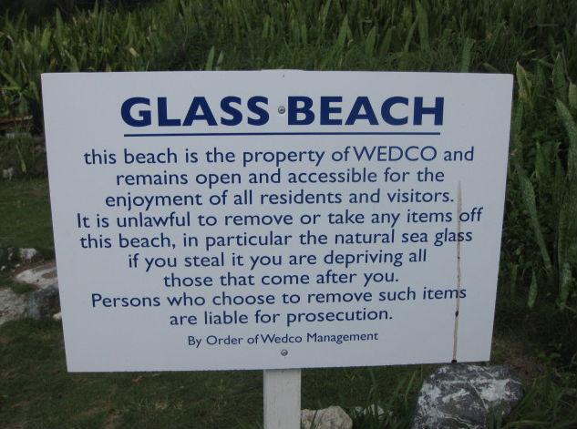 Wedco Gl Beach Sign