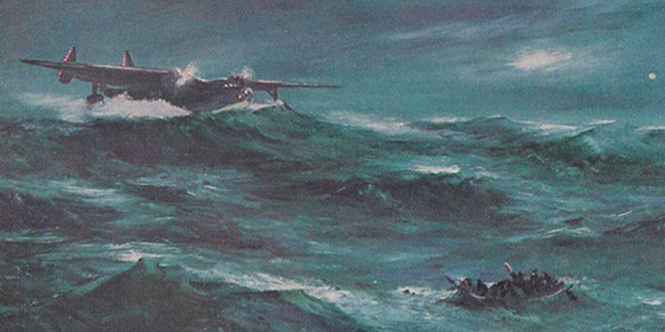 """""""Rescue off Bermuda,"""" a painting by Floyd Davis"""