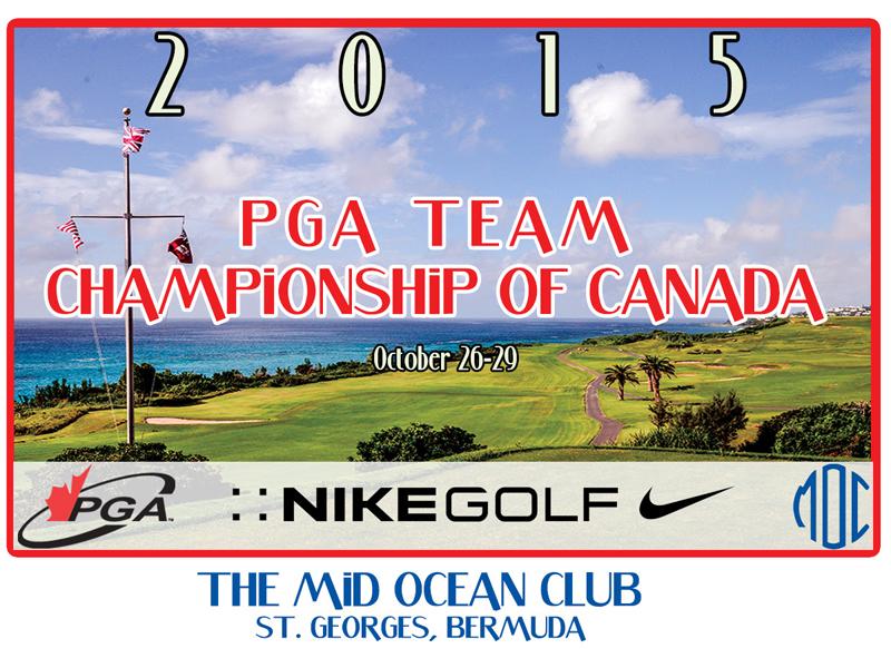 2015 PGA team championship of Canada Bermuda October 2015