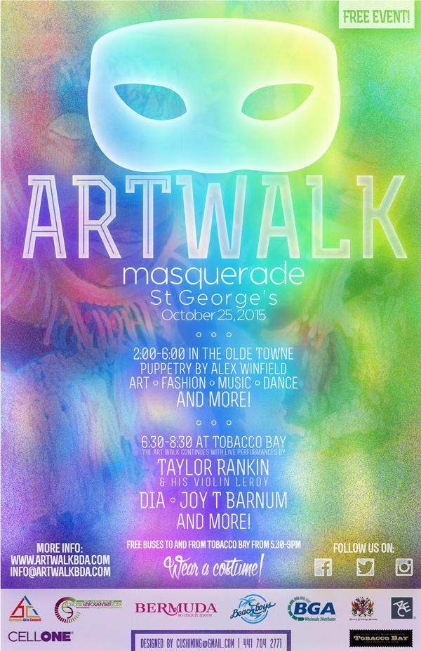 AWM Art Walk Masquerade Bermuda October 2015