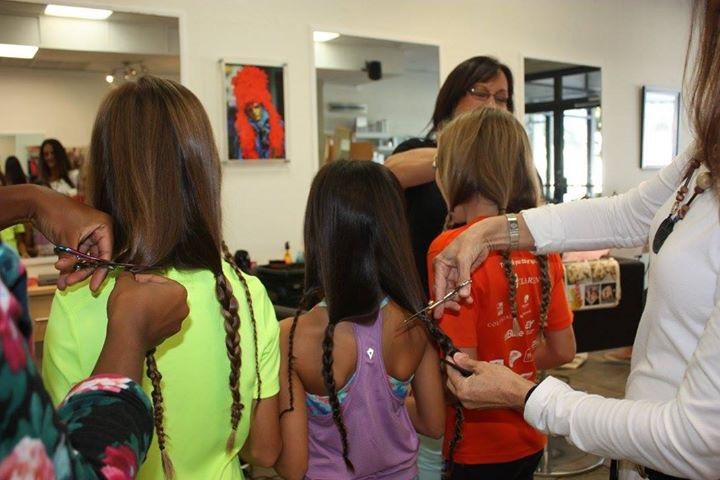 Ava Gabai-Maiato, Zoe Hasselkuss and Jasmin Hasselkuss at Liv hair salon (2)