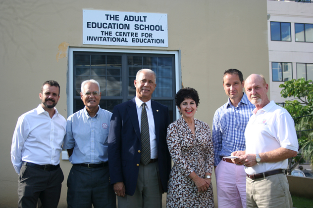 Bermuda Rotary Clubs Support the Adult Education School October 2015