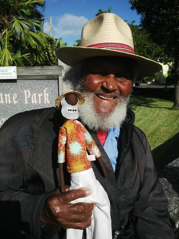Johnny Barnes doll Bermuda October 2015