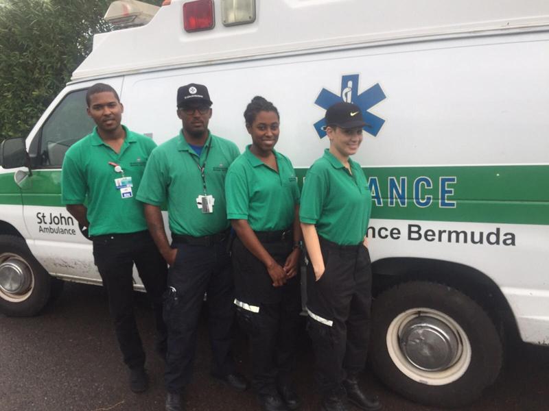 SJA ambulance crew Bermuda October 2015