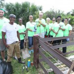 Working in the community gardens at Windreach
