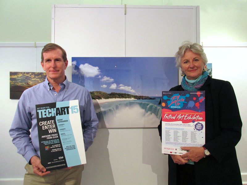 1 - Peter Hebberd & Rhona Emmerson, with Jack Thomas TechArt Adult Digital Art Winner