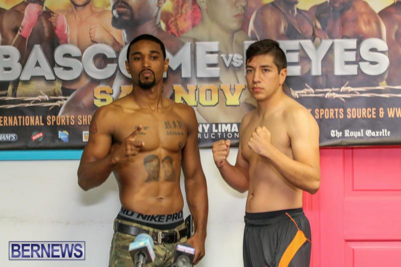 Bascome vs Reyes Fight Weigh In Bermuda, November 6 2015-5