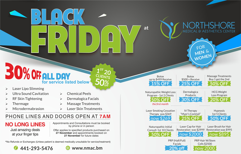 Black friday Northshore Bermuda Nov 26 2015