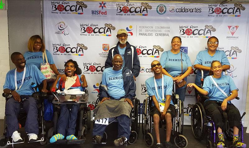 Boccia Bermuda team Colombia