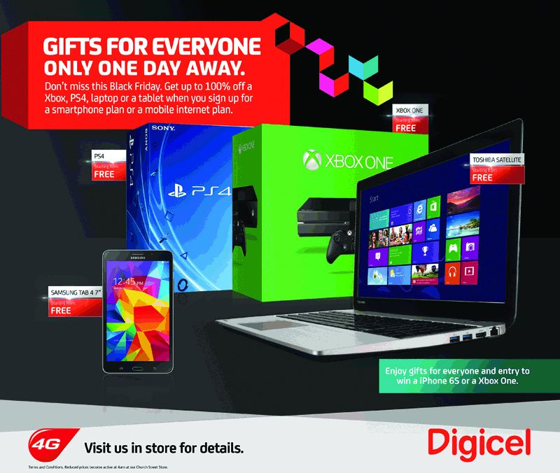 Digicel Gift for everyone Bermuda Nov 26 2015