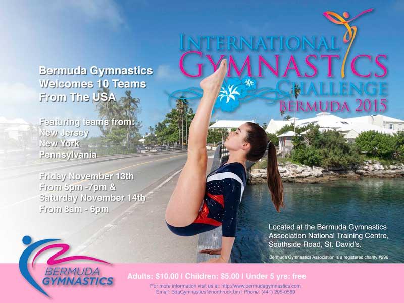 International Gymnastic Challenge Bermuda 2015 poster