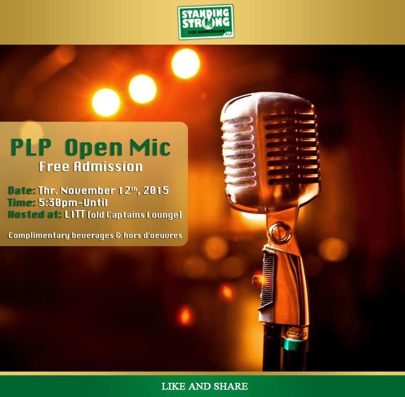 PLP Open Mic Night 09 Nov