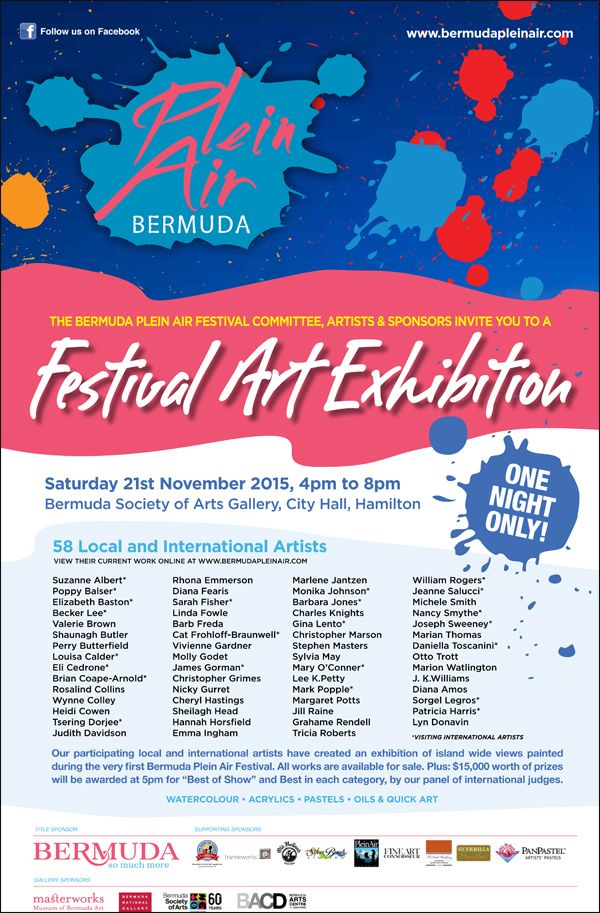 Plein Air Bermuda Festival Art Exhibition November 2015