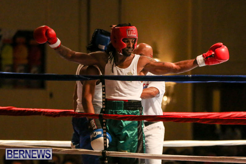 Robert King Somner vs Di'Andre Burgess Boxing Match Bermuda, November 7 2015-11