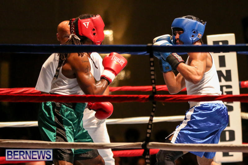 Robert King Somner vs Di'Andre Burgess Boxing Match Bermuda, November 7 2015-12