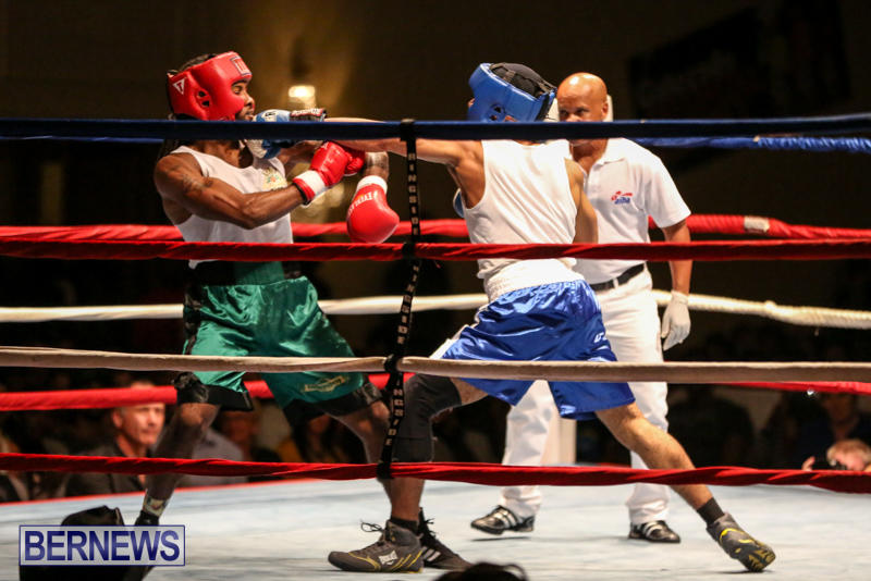 Robert King Somner vs Di'Andre Burgess Boxing Match Bermuda, November 7 2015-5