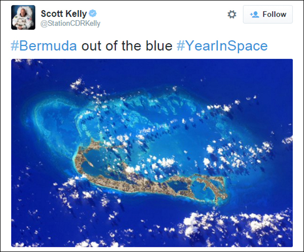 scott kelly tweet bermuda Nov 20 2015