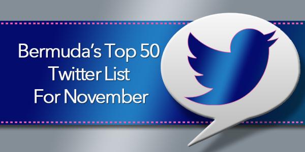top 50 twitter Bermuda Nov 2015