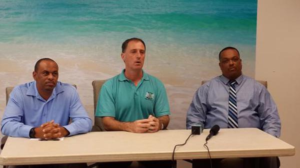BCB Gershon Gibbons, Neil Speight, Clay Smith Bermuda Dec 18 2015