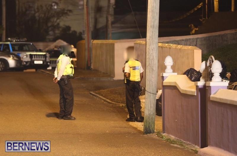 Police At Shooting Scene Bermuda, December 28 2015