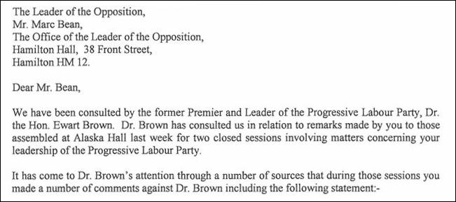 screenshot of legal letter dec 2015