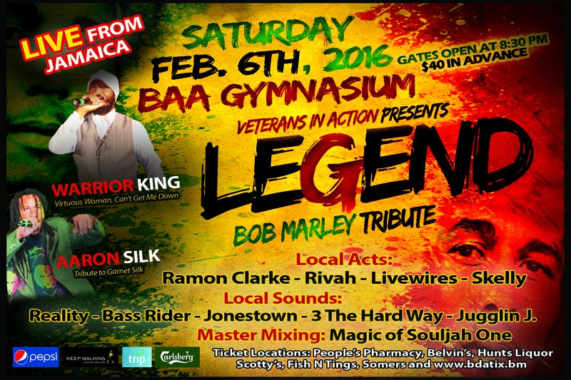 Annual Tribute to Bob Marley Concert Bermuda Jan 4 2016 2