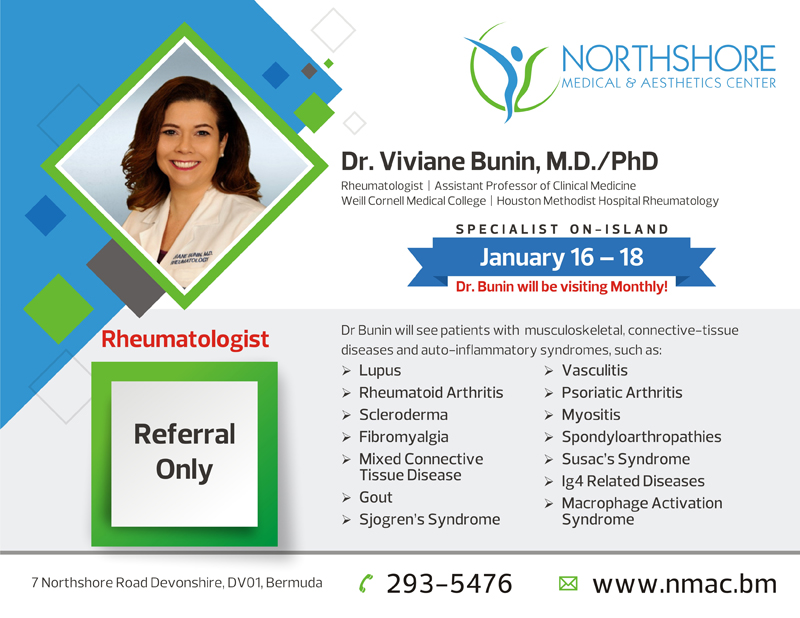 Dr Viviane Bunin Bermuda Jan 12 2016