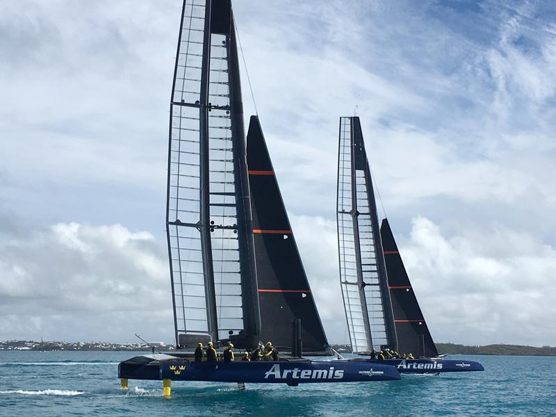 Artemis Racing T1 and T2 Bermuda Feb 19 2016