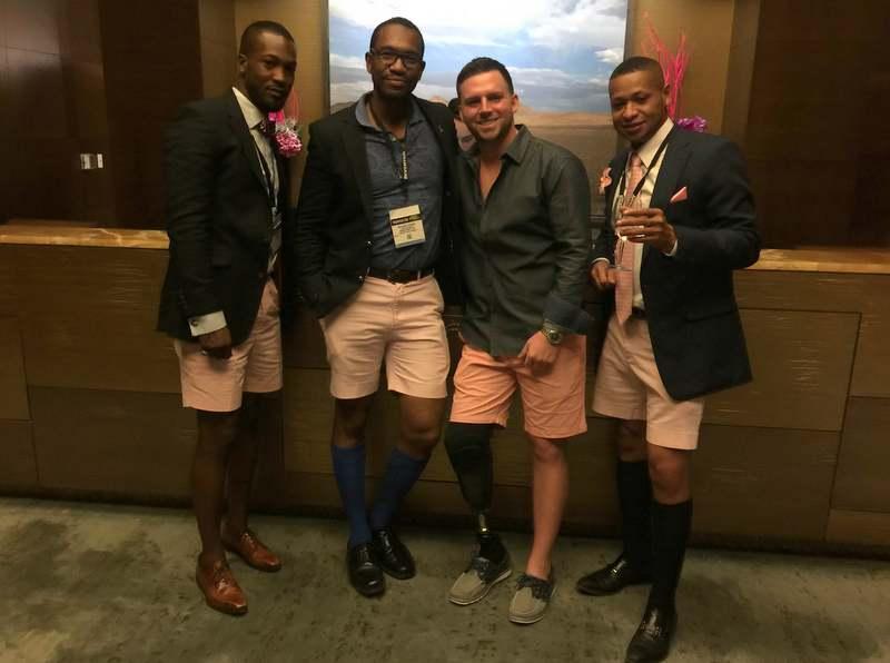 Bermudian Rocking The Shorts In Vegas March 9 2016 (2)