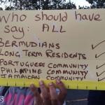 Protesters On East Broadway Bermuda Mar 1 2016 (16)