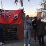 Protesters On East Broadway Bermuda Mar 1 2016 (18)