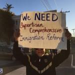 Protesters On East Broadway Bermuda Mar 1 2016 (4)