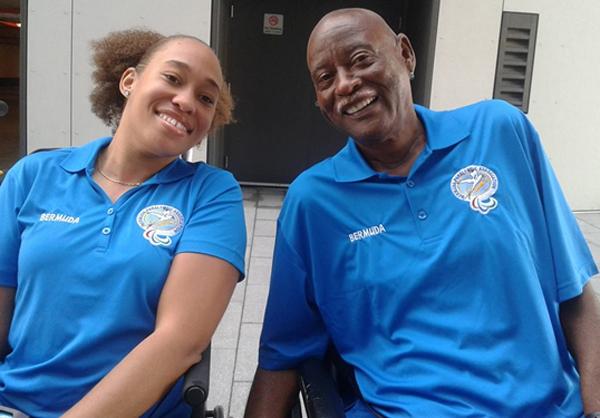 Yushae De-Silva Andrade and Steve Wilson Bermuda March 17  2016